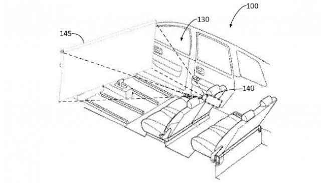 Paten sistem hiburan di mobil otonom Ford (Ubergizmo)