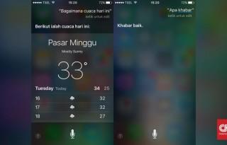 Salah satu tampilan Siri ( (CNN Indonesia/Susetyo Dwi Prihadi)
