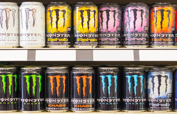 Monster Energy baverages (photo : rmnoa357 / Shutterstock.com)