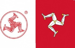Logo Cap Kaki Tiga (kiri) dan Isle of Man (kanan)
